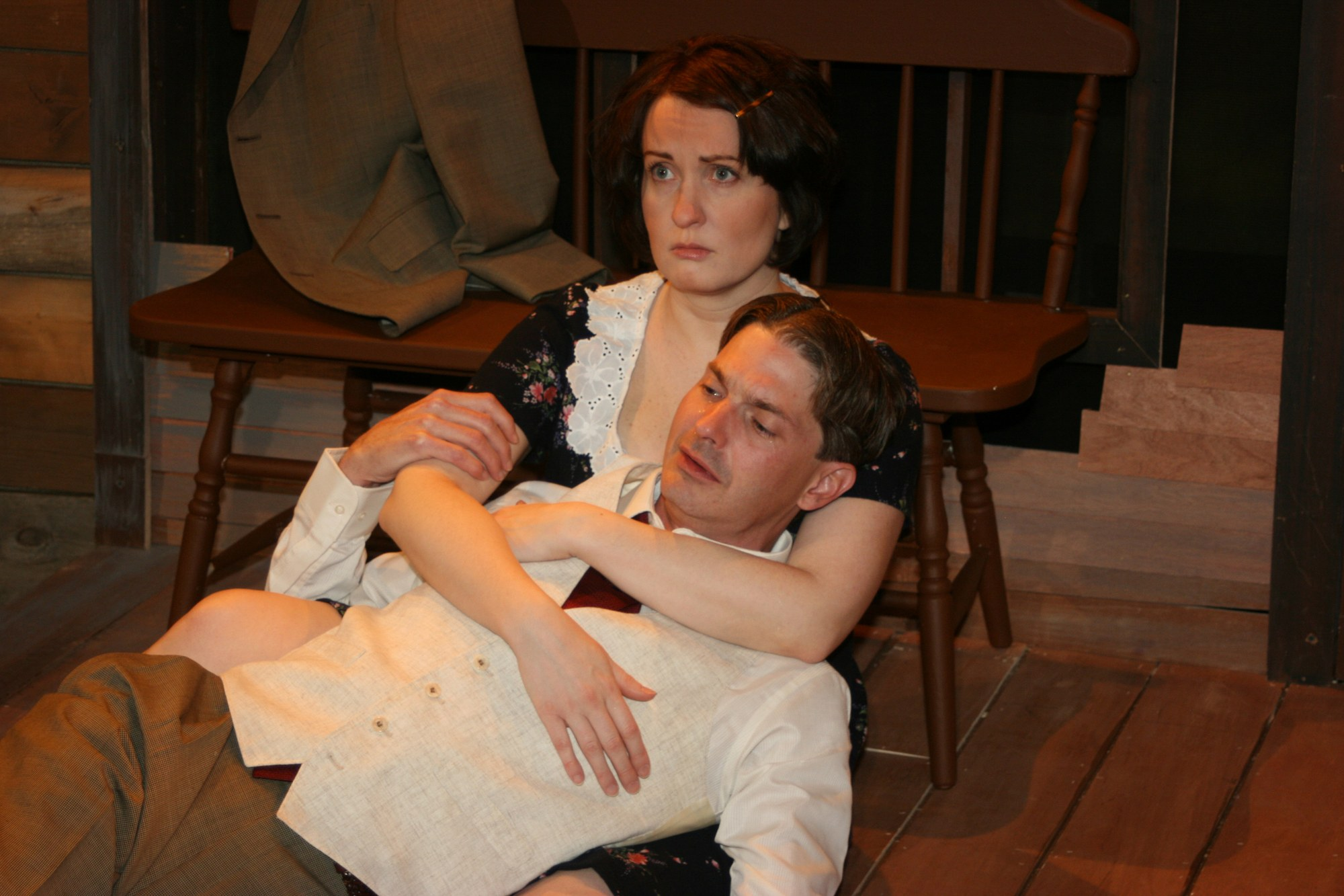 """Erin Noel Grennan and Christian Gray in """"A Moon for the Misbegotten,"""" 2009."""