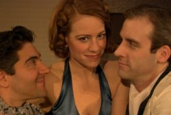 Kevin McKillip (Leo), Melanie Keller (Gilda) and David Kovac (Otto)