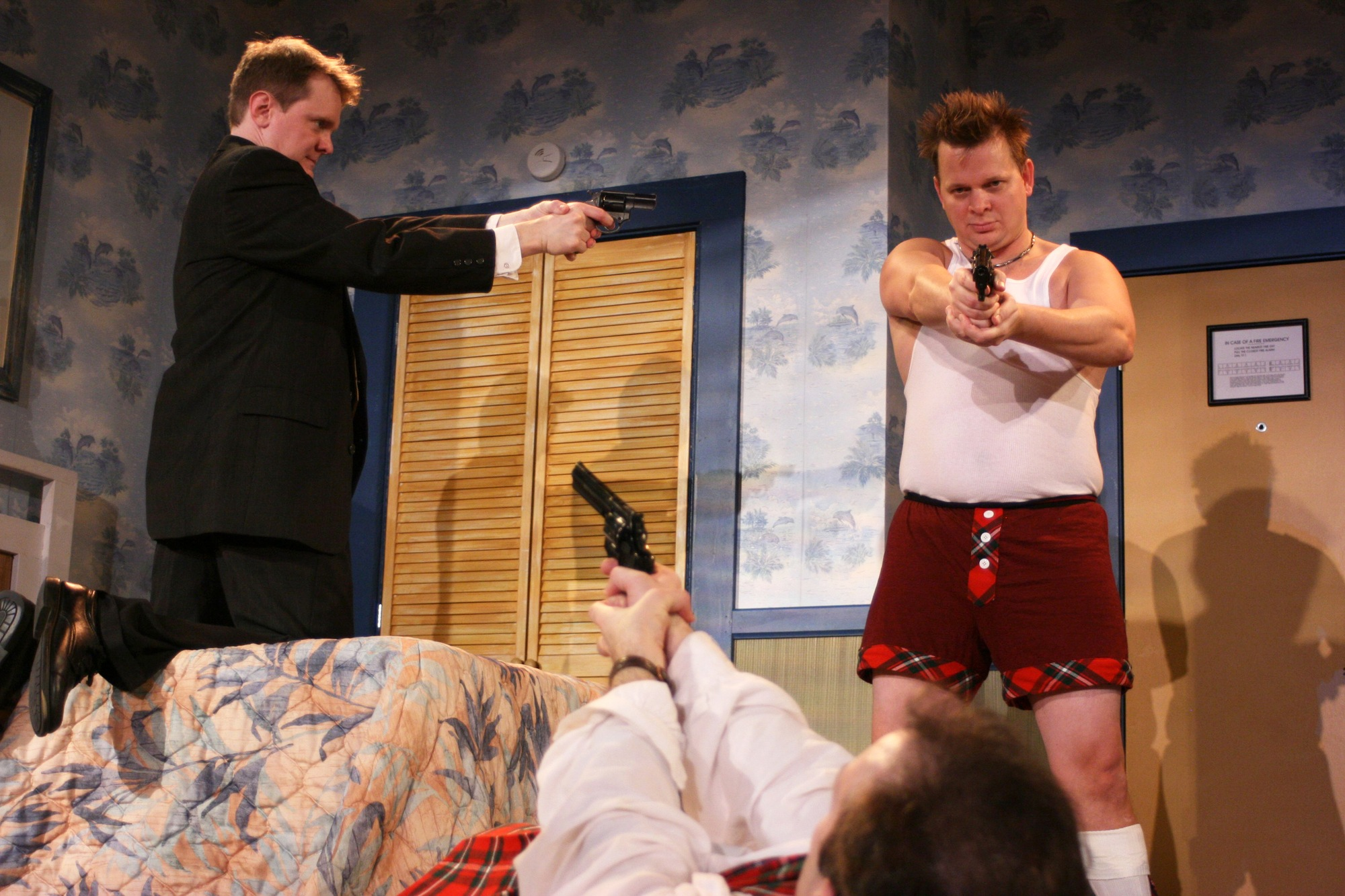 Unnecessary farce first folio theatre for Farcical plays