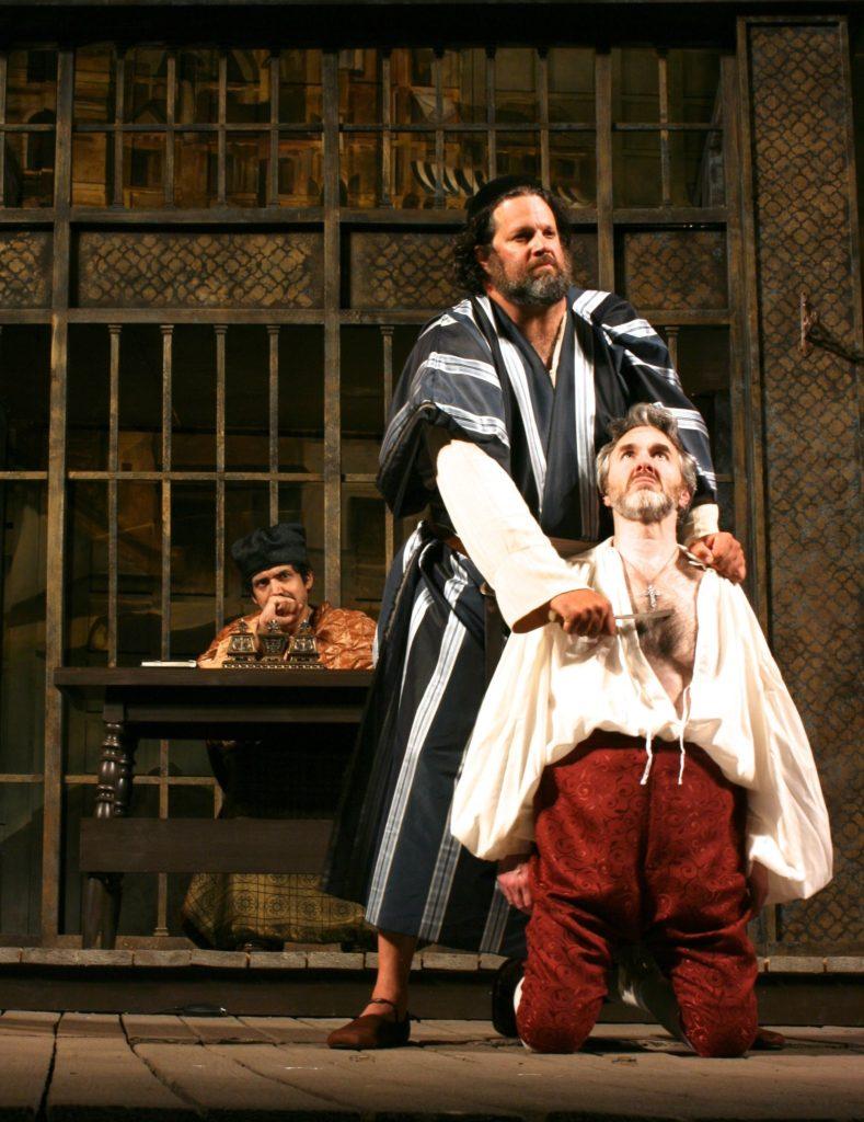 René Ruelas (Duke of Venice), Michael Goldberg (Shylock), Michael Joseph Mitchell (Anthonio)