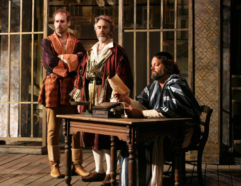 Kevin McKillip (Bassanio), Michael Joseph Mitchell (Anthonio), Michael Goldberg (Shylock)