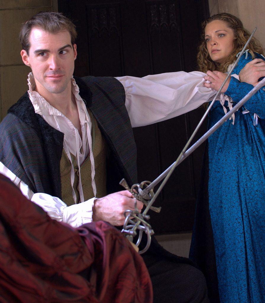 David Girolmo (Baron Manfred) and Caitlin Chuckta (Princess Isabella)